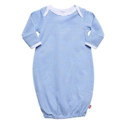 Zutano baby One Piece Candy Stripe Receiving Gown - Periwinkle