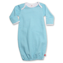 Zutano baby One Piece Candy Stripe Receiving Gown - Pool
