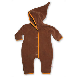 Zutano baby One Piece Cozie Elf Suit - Chocolate