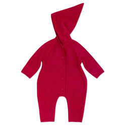 Zutano baby One Piece Cozie Elf Suit - Cranberry