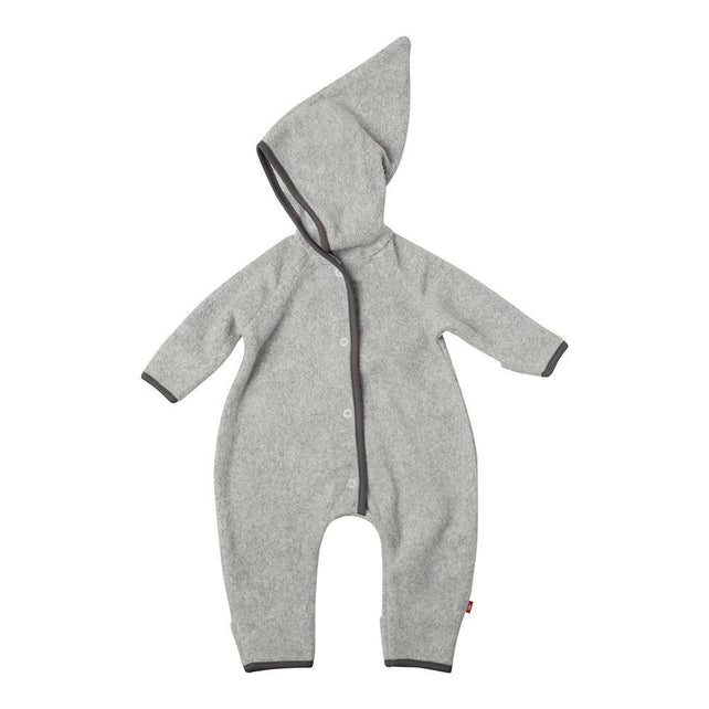 Zutano baby One Piece Cozie Elf Suit - Heather Gray