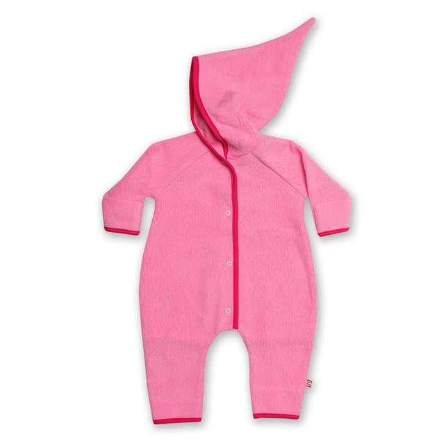Zutano baby One Piece Cozie Elf Suit - Hot Pink