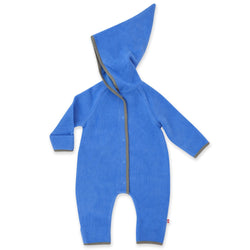 Zutano baby One Piece Cozie Elf Suit - Periwinkle