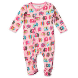 Zutano baby One Piece Elephants Ruffle Footie