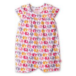 Zutano baby One Piece Ellas Elephants Cap Sleeve Bodysuit