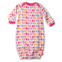 Zutano baby One Piece Ellas Elephants Receiving Gown