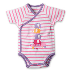 Zutano baby One Piece Ellas Elephants S/S Screen Body Wrap