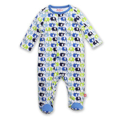 Zutano baby One Piece Enzos Elephants Footie
