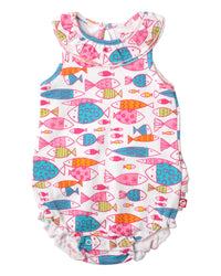 Zutano baby One piece Fish Ruffle Bubble
