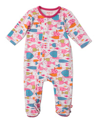 Zutano baby One piece Fish Ruffle Footie