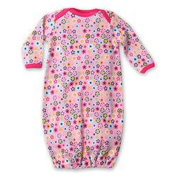Zutano baby One Piece Flower Shower Receiving Gown