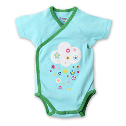 Zutano baby One Piece Flower Shower S/S Screen Body Wrap