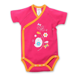 Zutano baby One Piece Friendly Bird S/S Body Wrap