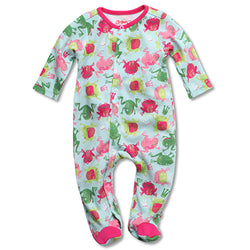 Zutano baby One Piece Frog Princess Footie
