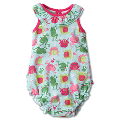 Zutano baby One Piece Frog Princess Ruffle Bubble