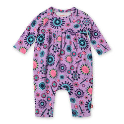 Zutano baby One Piece Geo Flower Romper