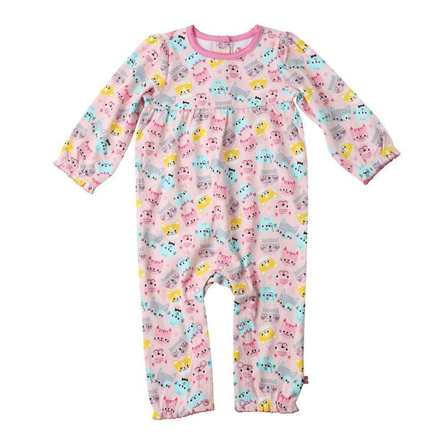 Zutano baby One Piece Happy Cat L/S Princess Romper