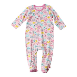 Zutano baby One Piece Happy Cat Ruffle Footie