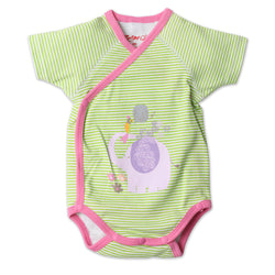 Zutano baby One Piece Hello Newborn S/S Screen Body Wrap