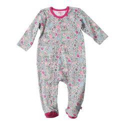 Zutano baby One Piece In The Woods Ruffle Footie
