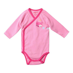 Zutano baby One Piece Kitten Prints L/S Body Wrap