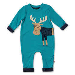 Zutano baby One Piece Moose Snuggle Suit