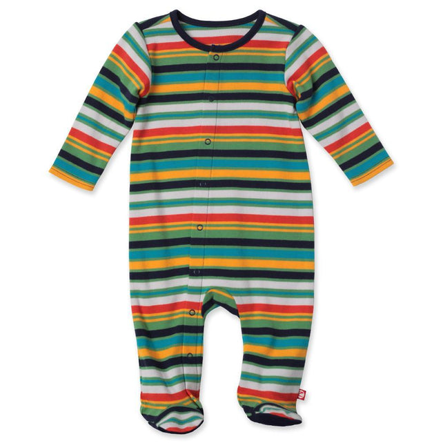 Zutano baby One Piece Multi Stripe Footie