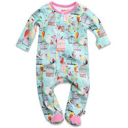 Zutano baby One Piece Paradise Bird Newborn Footie