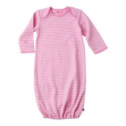 Zutano baby One Piece Pink Stripe Gown