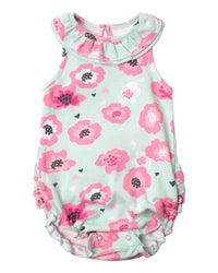 Zutano baby One piece Poppy Ruffle Bubble