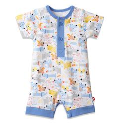 Zutano baby One Piece Puppies Henley Bodysuit