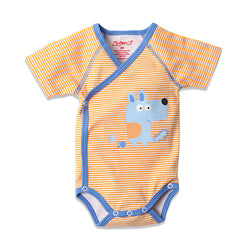 Zutano baby One Piece Puppies S/S Screen Body Wrap