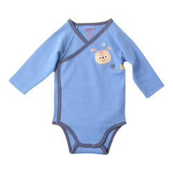 Zutano baby One Piece Puppy Prints L/S Body Wrap