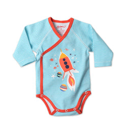 Zutano baby One Piece Rocket Ship L/S Body Wrap