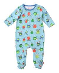 Zutano baby One piece Skate Monster Footie