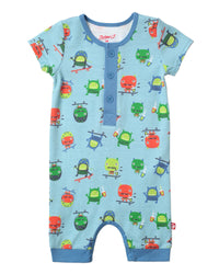 Zutano baby One piece Skate Monster Henley Bodysuit