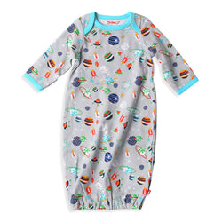 Zutano baby One Piece Space Kiddet Receiving Gown