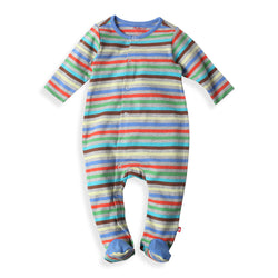 Zutano baby One Piece Stellar Stripe Footie