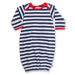 Zutano baby One Piece Stripe Receiving Gown - Navy
