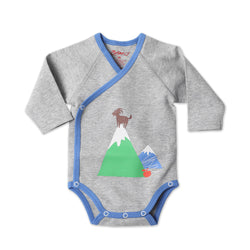 Zutano baby One Piece Top of the Mountain L/S Body Wrap