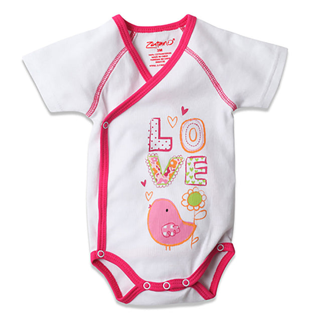 Zutano baby One Piece Tweet Love S/S Screen Body Wrap