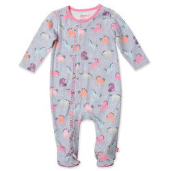 Zutano baby One Piece Unicorns Ruffle Footie