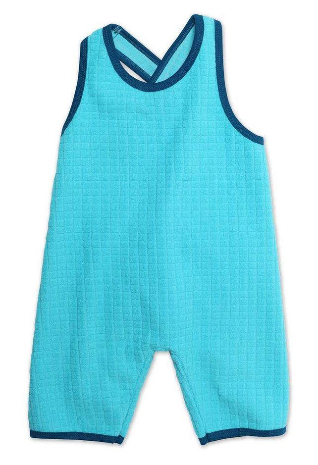 Zutano baby One Piece Waffle Cozie Baby Playsuit - Pool