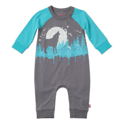 Zutano baby One Piece Wolf Playsuit