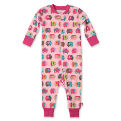 Zutano baby Pajama Elephants Organic Cotton Sleeper