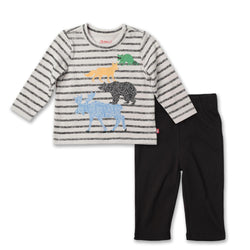 Zutano baby Set Animals Crew Neck Set