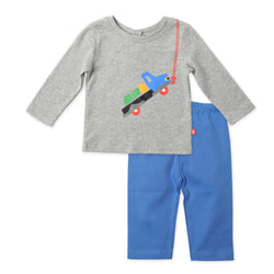 Zutano baby Set Big Dig Crewneck 2-Piece Set