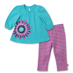 Zutano baby Set Big Flower Dress Set