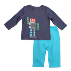 Zutano baby Set Bots Crewneck 2-Piece Set