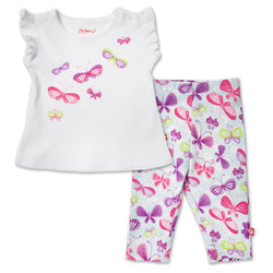 Zutano baby Set Butterfly Baby Flutter Top Set